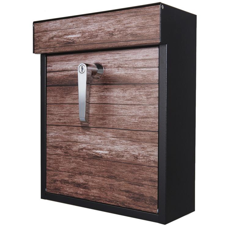 カバポスト ポスト A4 郵便ポスト ツカミ ハンドル付き A4 鍵付き 木目調 W1604TU