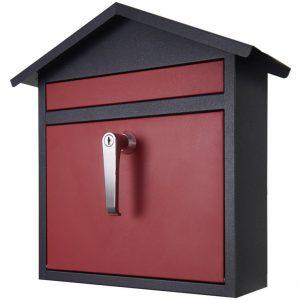 カバポスト 郵便ポスト ホーム A4 鍵付き ハンドル (赤/黒) W17HOBR